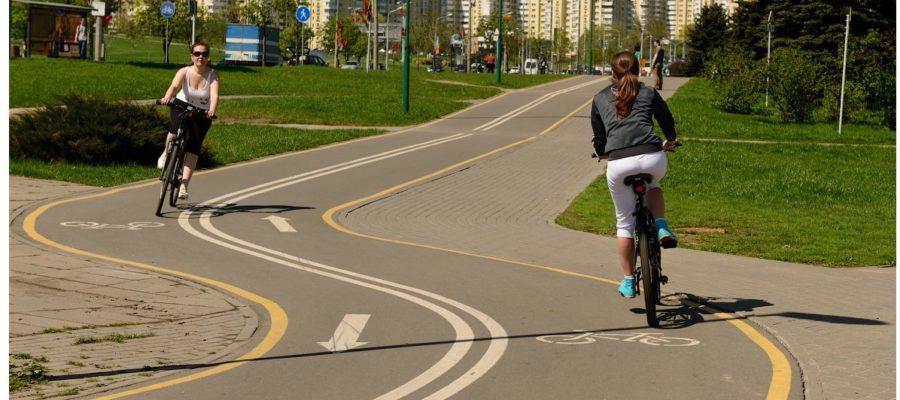 парк лето велосипед